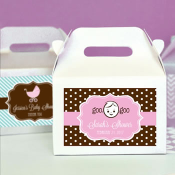 Baby Shower Mini Gable Boxes (set of 12)