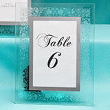 Etched Floral Design Table Number Frames