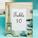 Paris Themed Table Number Frames