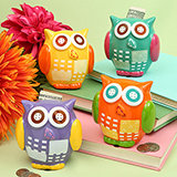 Owl Design Bank: Four Assorted Colors