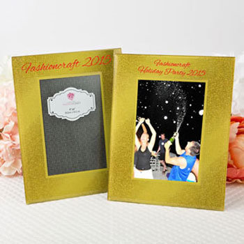 Silk Screen Personalized Gold Wide border beveled Glass frame  4