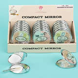 Travel design mirror compacts (18 pcs per Display Box)