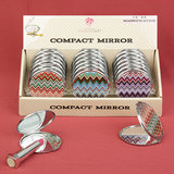 Chevron design mirror compacts (18 per Display Box)