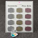 Fabulous Glitter Chevron pill Box from gifts by fashioncraft