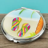 Fun Beach scene compact mirrors from gifts by fashioncraft