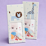 <em>Animal Themed</em>  Baby Frames - Blue (40 pcs per Display)