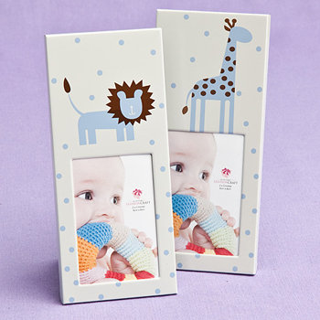 Animal Themed  Baby Frames - Blue (40 pcs per Display)