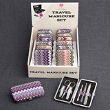 Chevron  Design Travel  Manicure Set (12 pcs per Display)
