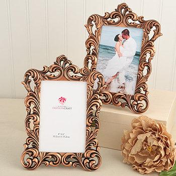 Vintage copper color Baroque design 4 x 6 frames. - Nice Price Favors