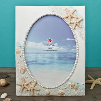 Glorious Hand painted Beach 8 x 10 frame from gifts by fashioncraft