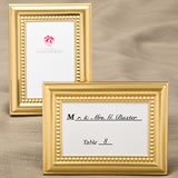 Decorative Shiny Gold Picture Frames with Beaded Inner border