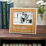 Family Frame with Bamboo finish and laser engraving