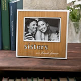Sisters Frame with Bamboo finish and laser engraving From Gifts By Fashioncraft