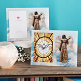 Religious Angel Themed Glass Picture Frame