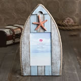 4x6 frame in boat shape with starfish and rope from gifts by fashioncraft