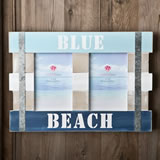 Double Blue Beach Frame 6 x 4 from gifts by fashioncraft
