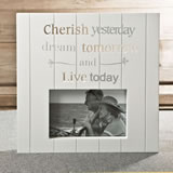 White MDF laser cut Cherish 6 x 4 frame