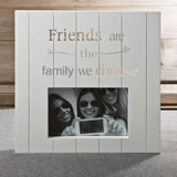 White MDF laser cut Friends 6 x 4 frame from gifts by fashioncraft