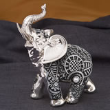 small silver and marble elephant - Boho Charcoal fiesta from gifts by fashioncraft