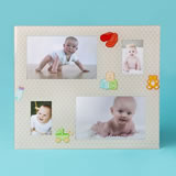 Glass baby collage frame - *ON SALE*