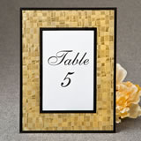 Glorious Gold 4 x 6 Mosaic frame with glass - black borders