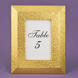 Gold PU Frame 4 x 6 with wide border and beveled edge from Gifts By Fashioncraft