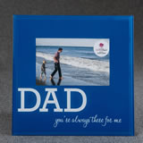 Glass DAD frame - 6 x 4 - blue and White