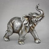 Antique Silver elephant medium size from gifts by fashioncraft