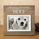 Wood frame with raised metal words - 6 x 4 - WOOF