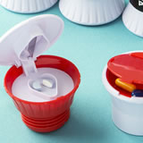Pill box - Pill Cutter - Pill Crusher - assorted colors