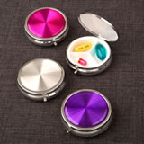Hologram style pill box in fabulous trendy colors