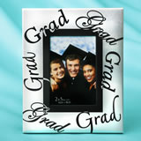 Silver frame with black letters GRAD - GRAD 2 x 3