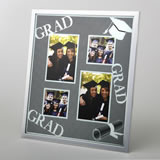 4 opening collage glitter silver matte frame