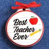 Teacher magnet - 2 assorted designs in a 12 piece display