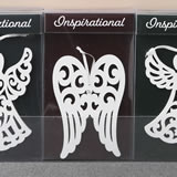 Angel and Angel Wings ornaments - 3 assorted designs