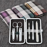 Plaid design manicure set from gifts by fashioncraft