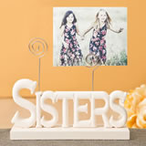 Lovely Rose white Sisters photo holder from gifts by fashioncraft