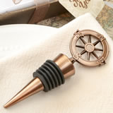 Compass design bronze metal bottle stopper from fashioncraft