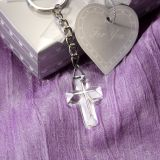 Memorial Choice Crystal Collection Cross Key Chain
