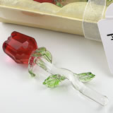 Crystal Long stem Red rose from fashioncraft