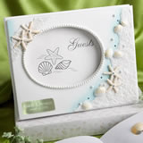 <em>Finishing Touches Collection</em> Engraved Beach Themed Wedding Guest Book