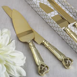 Two Piece cake knife set from fashioncraft