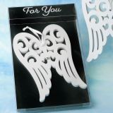 Heaven Sent Collection White Wood Angel Wing Ornament