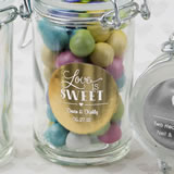 Personalized Metallics Collection Apothecary Jar Favor