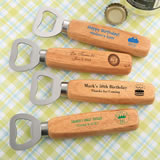 Birthday Design your own collection Wood handle bottle opener with solid stainless steel top opener