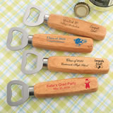 Graduation Design your own collection Wood handle bottle opener with solid stainless steel top opene