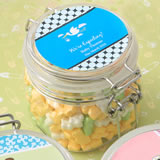 Baby Shower Personalized Expressions Collection Large clear Acrylic Apothecary Jar Favor