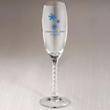 Winter Personalized Champagne Flute Favors