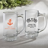 Personalized Glass Beer Mug 12.25 oz From Fashioncraft - wedding design