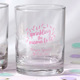 Baby Shower Screen printed Personalized Rocks Glass